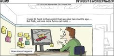 Those Cat Videos will get me every time! (WuMo Comic Strip, November 02, 2014)