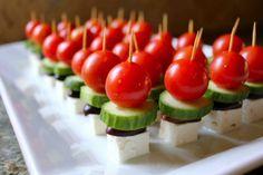 Light Appetizer Greek Salad On A Stick