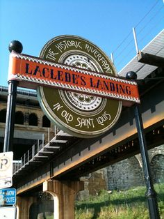 Historic St Louis Laclede's Landing - cobblestone streets, restaurants, cafes, and nightspots located along the St. Louis riverfront.  http://lacledeslanding.com/
