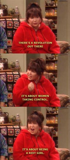 Roseanne's a riot grrrl