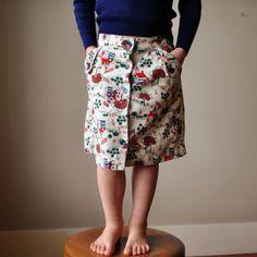 70s Corduroy School skirt