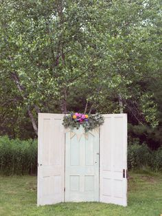 ceremony doors, photo by Dreamlove Photography http://ruffledblog.com/bishop-farm-wedding #weddingideas #weddingceremony