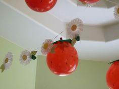 Balões de morango