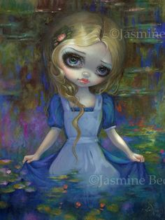 Alice in Monet's Water Lilies art print by Jasmine Becket-Griffith 12x16 BIG…