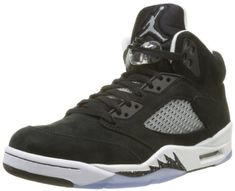 quality design 9faa2 94291 Nike Mens Air Jordan Retro 5 Oreo Basketball Shoes Black Cool Grey Black  136027