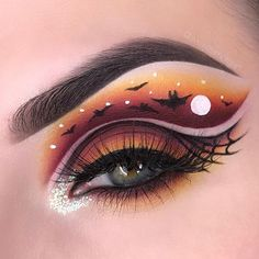 Looking for for ideas for your Halloween make-up? Browse around this website for cute Halloween makeup looks. Makeup Eye Looks, Eye Makeup Art, Cute Makeup, Eyeshadow Makeup, Eyeliner, Makeup Eyes, Eye Art, Beauty Makeup, Cute Halloween Makeup