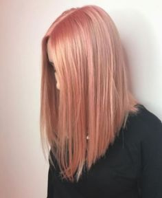 Makeup Pink Hair Rose Gold Ideas The most beautiful hair ideas, the most trend hai Peach Hair Colors, Ombre Hair Color, Cool Hair Color, Pink Peach Hair, Peach Rose, Cabelo Rose Gold, Rose Gold Hair, Bleach London, Hair Brained