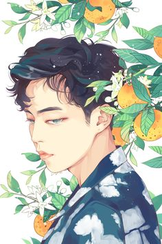 "Fan art of Kim Min-seok (김민석) also known mononymously as Xiumin (시우민) of EXO (엑소) from their ""Ko Ko Bop"" comeback. 
