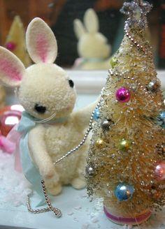 pompom bunny decorating the tree :)