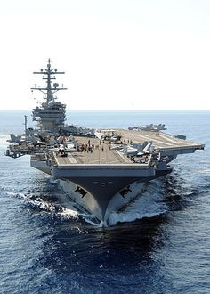"The Pentagon says the US aircraft carrier George H. Bush and more than 50 attack aircraft are in the Persian Gulf, ready to launch attacks against Takfiri militants in Iraq. The warship along with a battle group of ships are ""in the region and. Us Navy, Navy Mom, Hw Bush, George Hw, Navy Life, United States Navy, Navy Ships, Uss Enterprise, Aircraft Carrier"