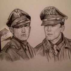 Sketch of Ben Affleck & Josh Hartnett in Pearl Harbor.