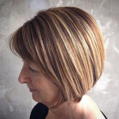 Over Brown Bob With Caramel Balayage If you liked this pin, click now for more details. Modern Haircuts, Modern Hairstyles, Short Hairstyles For Women, Haircut For Older Women, Haircuts For Fine Hair, Layered Haircuts, Short Haircuts, Short Sassy Hair, Short Hair Cuts For Women
