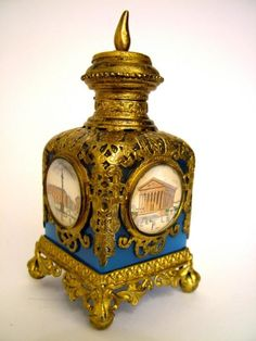 French Opaline Glass Palais Royal Perfume Bottle