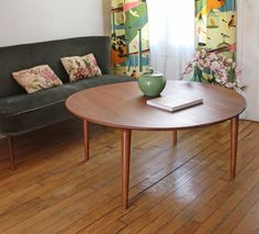 TABLE BASSE RONDE EN TECK via Retour de chine. Click on the image to see more!