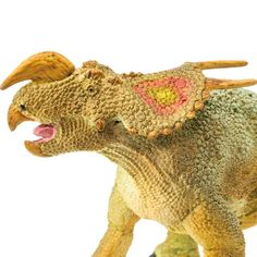 This Einiosaurus toy is the perfect addition to your aspiring paleontologist's dinosaur collection. Spinosaurus, Tyrannosaurus Rex, Four Legged, Prehistoric, North America, Ice Age, Horn, Montana, Buffalo