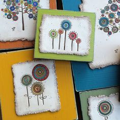 polymer wood flowers | par Bull's Eye Studio
