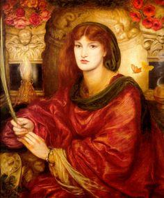 "Dante Gabriel Rossetti, ""Sibylla Palmifera"", 1866-1870, Lady Lever Art Gallery, Port Sunlight, Merseyside, UK"