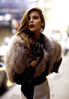 cropped fur in the city