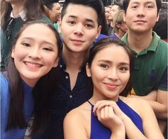 """This is the pretty Kathryn Bernardo, dressed in my favourite colour blue, smilng for the camera and taking a selfie with the cast of Barcelona: A Love Untold while preparing for the taping of the ABS-CBN 2016 Christmas Station ID, """"Isang Pamilya Tayo Ngayong Pasko."""" Indeed, Kathryn is a pretty Kapamilya talent and a pretty Star Magic talent. """"Buenos dias! Hola! Hola! Barcelona!"""" #KathrynBernardo #JoshuaGarcia #BarcelonaALoveUntold #ABSCBNChristmasStationID #IsangPamilyaTayoNgayongPasko Child Actresses, Child Actors, Joshua Garcia, Batangas Philippines, Filipina Actress, Pretty Star, Star Magic, Kathryn Bernardo, My Favorite Color"""