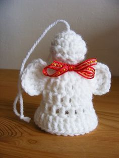 Fizule71: ANDĚLÍČEK BACULÁČEK Christmas Angels, Christmas Ornaments, Handmade Angels, Holiday Crafts, Holiday Decor, Knitting Needles, Crochet Projects, Wings, Barbie