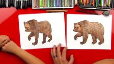 Grab something to draw with and follow along, today we're learning how to draw a grizzly bear!
