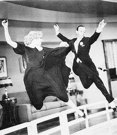 Swing Time (1936) - Fred Astaire & Ginger Rogers - And this is seriously one of the coolest photographs!