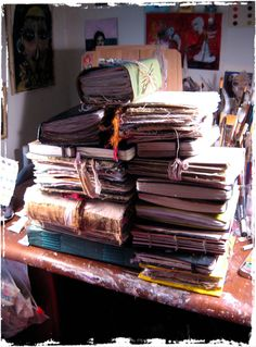 lynne hoppe - some day I hope to have lusciously filled journals like this!
