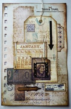 Recycled book pages - January