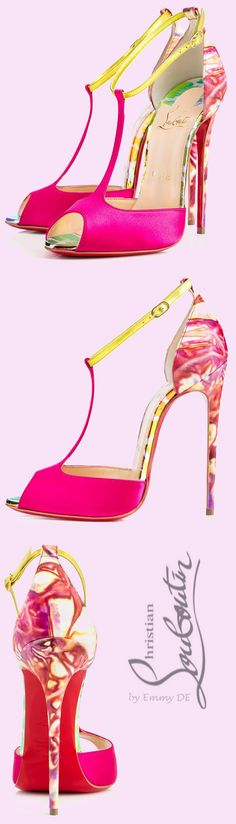 Christian Louboutin ~ Spring 'Senora' Sandals, Fuchsia 2015