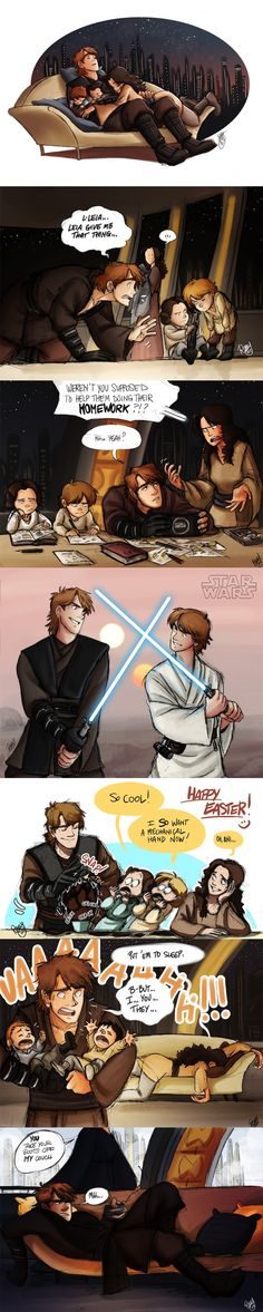 If Anakin Skywalker had never turned to the Dark Side :( (Star Wars) Star Wars Comic, Bd Star Wars, Film Star Wars, Star Wars Jokes, Star Wars Art, Star Trek, Anakin Skywalker, Anakin Vader, Darth Vader