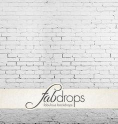 White Brick Studio - Brick Wall Photography Backdrop