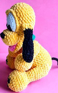 Baby pluto dog amigurumi free crochet pattern - Lovelycraft Disney Crochet Patterns, Crochet Elephant Pattern, Animal Knitting Patterns, Crochet Disney, Crochet Amigurumi Free Patterns, Afghan Crochet Patterns, Stuffed Animal Patterns, Free Crochet, Merry Christmas