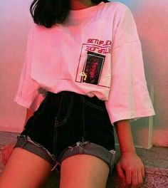 Bild über Mode in es t i l o. ,, – fashion # aesthetic fashion … – The World Mode Outfits, Retro Outfits, Korean Outfits, Grunge Outfits, Vintage Outfits, Girl Outfits, Casual Outfits, Fashion Outfits, Fashion Ideas