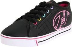 Heelys Dash Skate Sneaker (Little Kid),Black,12 M US Little Kid Heelys. $54.99. Non marking outsole. synthetic. 2x2 double wheels with annular bearing engineering committee 1 bearings. Rubber sole. Made in China. Skate shoe with removable wheel