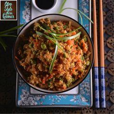 arroz frito con coliflor