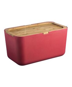 Look at this Red Bread Bin on #zulily today!