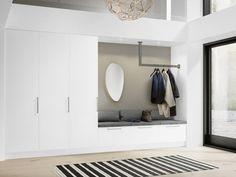 16 elegant Scandinavian hallway designs that can enhance your home - . - 16 elegant Scandinavian hallway designs that can enhance your home – - Design Hall, Flur Design, Entry Way Design, Ikea Hallway, Ikea Wall, Hallway Closet, Ikea Trones, Dressing Ikea, Hallway Designs
