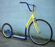 AtomicZombie Bikes, Trikes, Recumbents, Choppers, Ebikes, Velos and more: Ken's Kick Bike - Atomic Zombie builders gallery