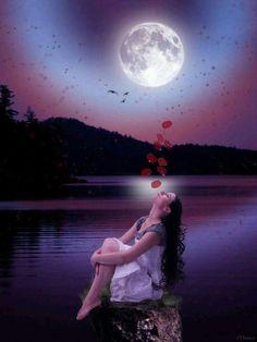 """Résultat de recherche d'images pour """"centerblog belle image de lune"""""""