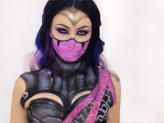 Kahnum Mileena.  I was on a whole new level of cbf today lol so this is rather messy but hey whatever. I loooove doing #mortalkombat characters I want to do Scorpion etc but don't have the right face paints  If anyone has any video game or comic #makeup suggestions let me know!  {#mileena #mileenamakeup #mileenacosplay #kahnummileena #mortalkombatcosplay #mua #jordanhanz #madeyewlook #sfx #facepaint #cosplay #cosplayer #gamer #gaming #games #gamers #cosplaymakeup #discover_muas…