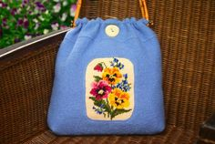 upcycle: vintage needlepoint for pretty summer bag