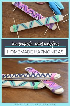 Homemade Harmonica A Homemade Instrument is part of Little Kids Crafts Homemade Whether you call this a homemade harmonica or a homemade kazoo this little homemade instrument is a blast! Crafts For Seniors, Easy Crafts For Kids, Teen Crafts, Toddler Crafts, Quick Crafts, Creative Crafts, Instrument Craft, Musical Instruments, Fun Craft