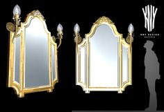 Decorative Wall Mirror With Decorative Lamps K 5033 Designed by Kny Design Austria www.kny-design.com Wall Lamps, Wall Mirror, Wall Decor, Decorative Lamps, Austria, Sconces, Design, Home Decor, Wall Hanging Decor