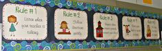 Class Rules Printables & Gestures
