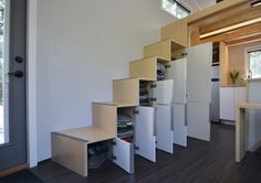 Storage Stairs - SHEDsistence Tiny House