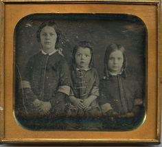 1840s 1 4 PL Sharp Daguerreotype 3 ID'Ed Young Girls Staring Intensly | eBay