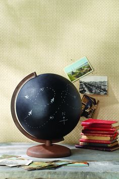 Display your wanderlust with a personalized globe using Krylon spray paint!