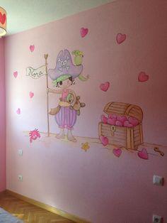 Mural infantil piratas. Decoracion infantil