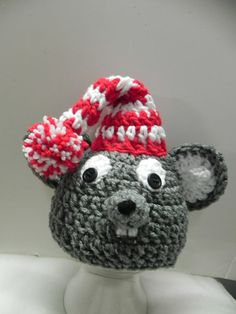 Newborn  Mouse Hat by mccdingbat on Etsy, $20.00