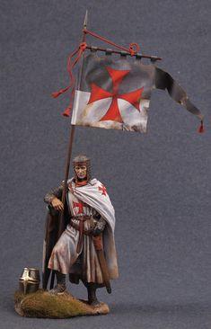 Miniature scale figure of a Knight.